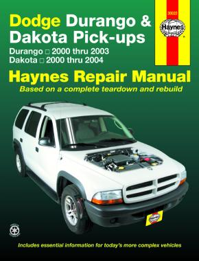DODGE DURANGO, DAKOTA PICK-UPS  (2000-2004) - Haynes Repair Manual
