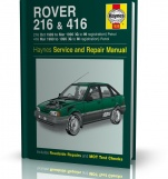 ROVER 216 & ROVER 416 Z SILNKIEM BENZYNOWYM (1989 - 1996) - Haynes Service i Repair Manual